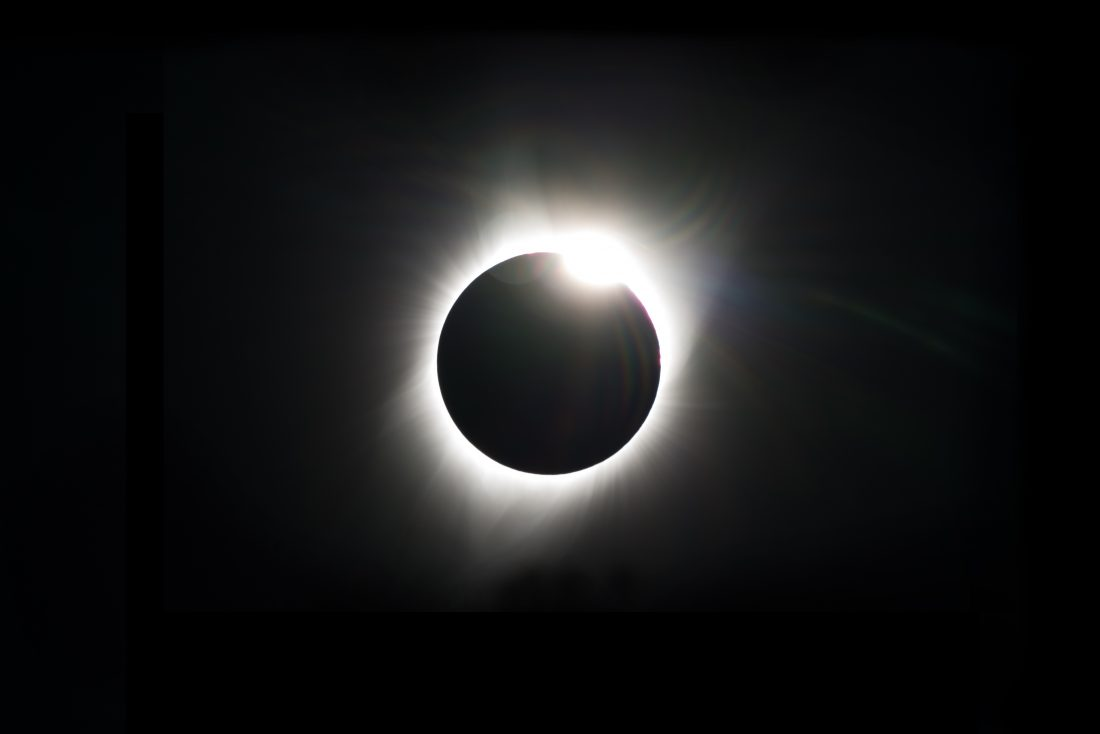 Image of the eclipsed sun